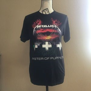 Metallica band tee unisex small master of puppets